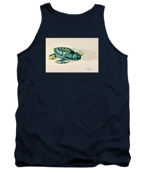 Da150 Baby Sea Turtle By Daniel Adams  Tank Top