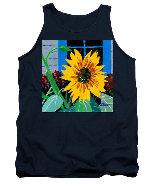 Backyard Flowers  Tank Top