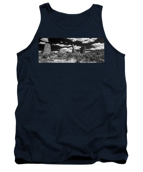 Tank Top featuring the photograph Balanced Rock by Larry Carr