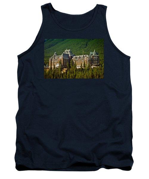 Banff Springs Hotel Tank Top by Richard Farrington