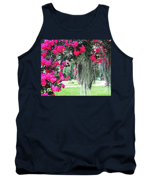 Baton Rouge Louisiana Crepe Myrtle And Moss At Capitol Park Tank Top
