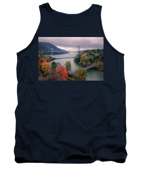 Tank Top featuring the photograph Bear Mountain Bridge by Joan Carroll