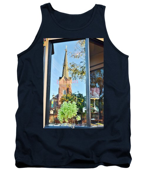Biblion Used Books Reflections 3 - Lewes Delaware Tank Top