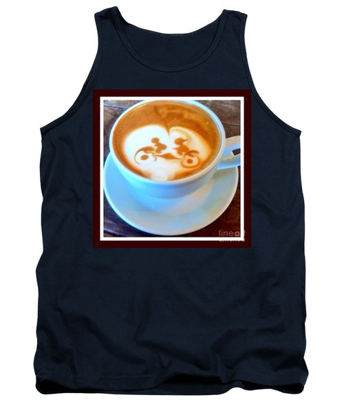 Bicycle Built For Two Latte Tank Top