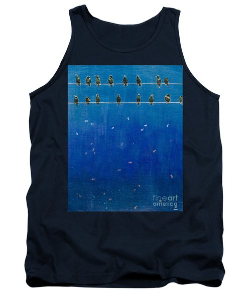 Birds And Fish Tank Top by Stefanie Forck