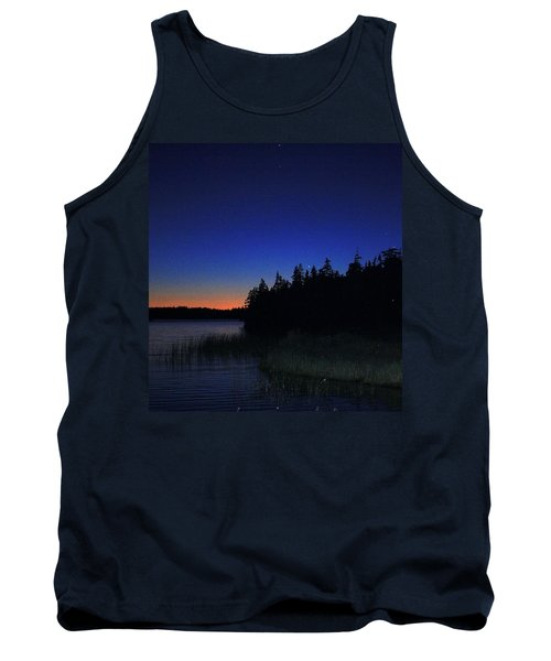 Black And Blue Sky Tank Top