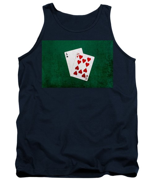 Blackjack Twenty One 1 Tank Top by Alexander Senin