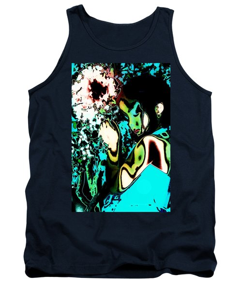 Tank Top featuring the photograph Blue Beauty by Jessica Shelton