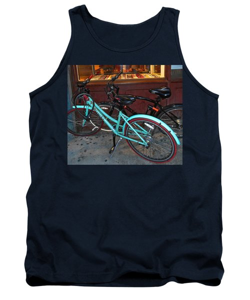 Tank Top featuring the photograph Blue Bianchi Bike by Joan Reese