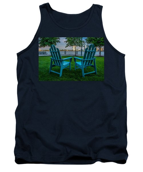 Blue Chairs Tank Top