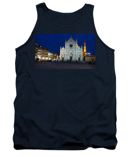 Blue Hour - Santa Croce Church Florence Italy Tank Top