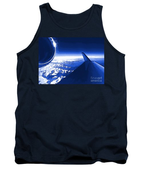 Blue Jet Pop Art Plane Tank Top by R Muirhead Art