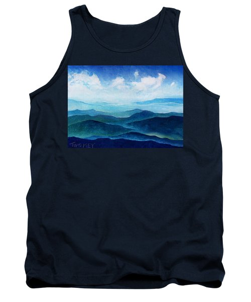 Blue Ridge Blue Skyline Sheep Cloud Tank Top
