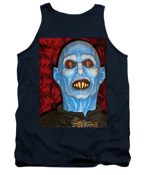 Tank Top featuring the photograph Blue Vampire by Joan Reese