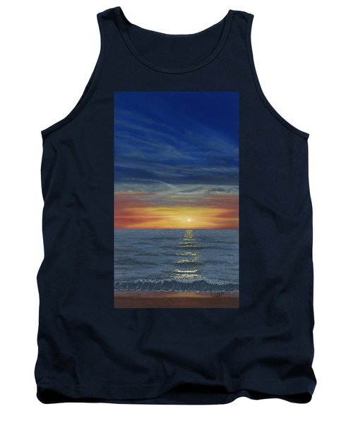 Blueberry Beach Sunset Tank Top