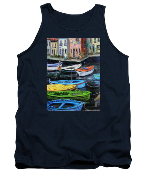 Boats In Front Of The Buildings II Tank Top by Xueling Zou