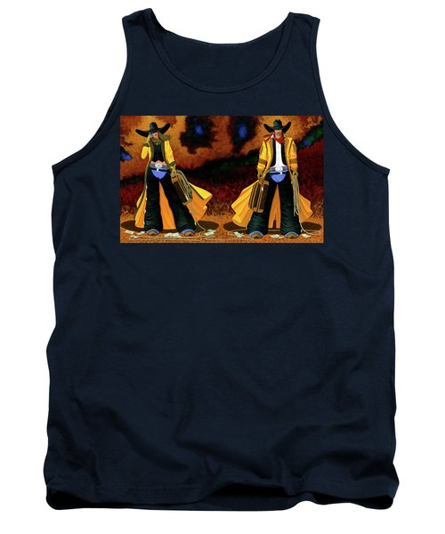 Bonnie And Clyde Tank Top by Lance Headlee