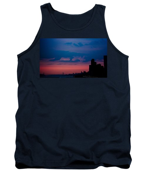 Tank Top featuring the photograph Brooklyn Bridge Sunrise by Sara Frank