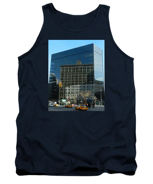 Tank Top featuring the photograph Building Reflections Nyc by Emmy Marie Vickers