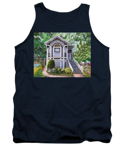 Tank Top featuring the painting Alameda 1895 Queen Anne by Linda Weinstock