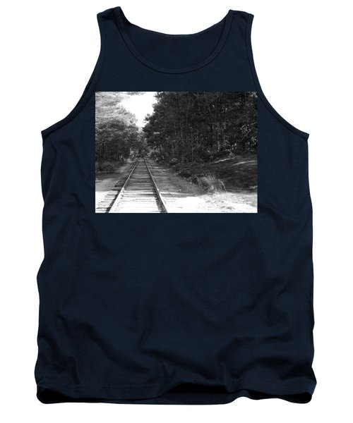 Bw Railroad Track To Somewhere Tank Top