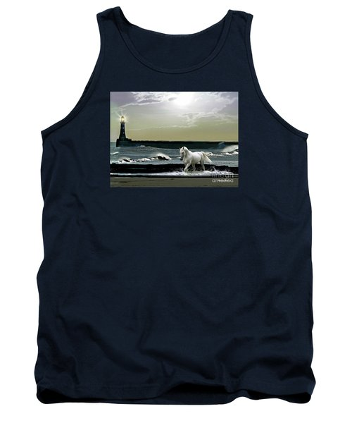 Tank Top featuring the mixed media By The Light Of The Silvery Moon by Morag Bates