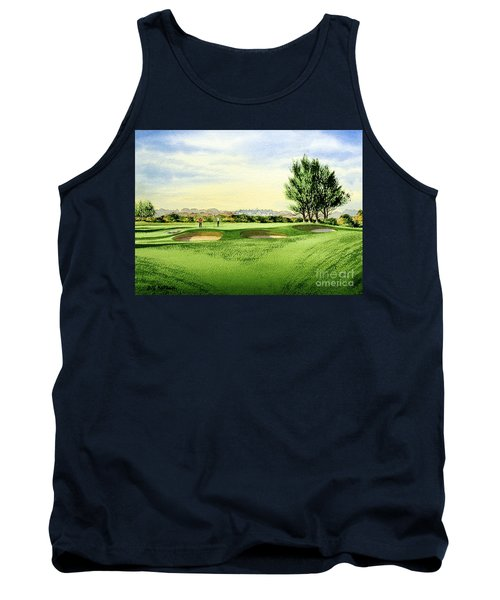 Carnoustie Golf Course 13th Green Tank Top by Bill Holkham