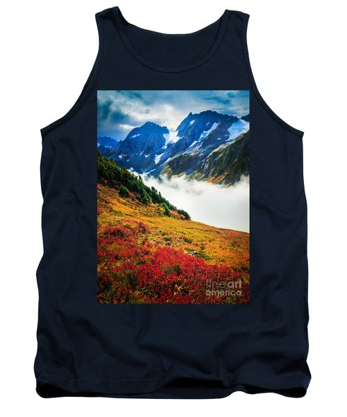 Cascade Pass Peaks Tank Top by Inge Johnsson