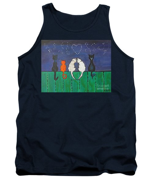 Tank Top featuring the painting Cat Tails by Ella Kaye Dickey