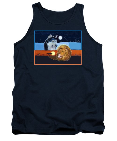 Tank Top featuring the mixed media Celestial Kings by J L Meadows