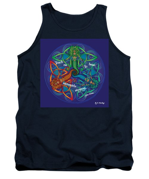 Celtic Mermaid Mandala Tank Top