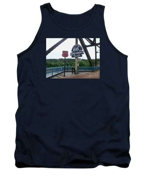 Chain Of Rocks Bridge Tank Top by Kelly Awad
