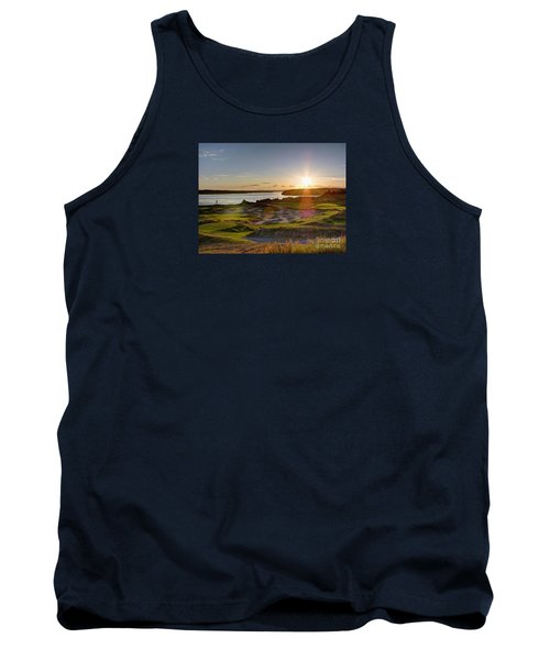 Tank Top featuring the photograph Chambers Bay Sun Flare - 2015 U.s. Open  by Chris Anderson