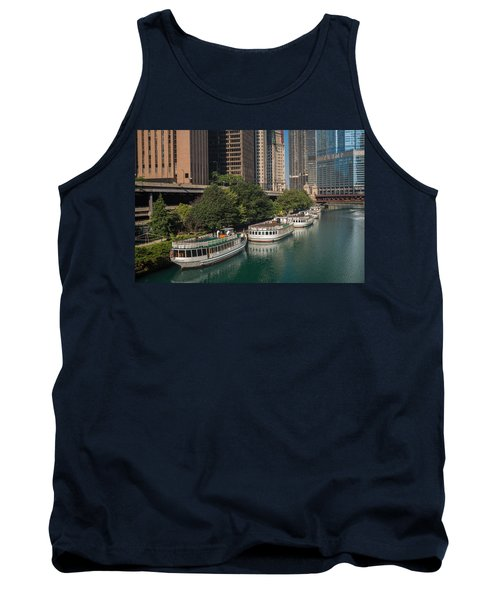Chicago River Tour Boats Tank Top