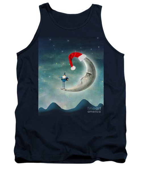 Christmas Moon Tank Top by Juli Scalzi