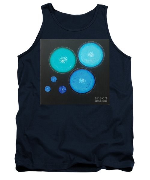 Tank Top featuring the painting Circles Of My Mind by Mini Arora