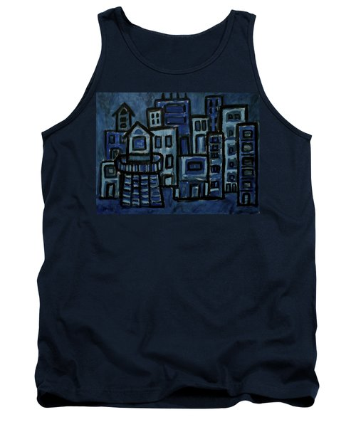 City At Night Tank Top