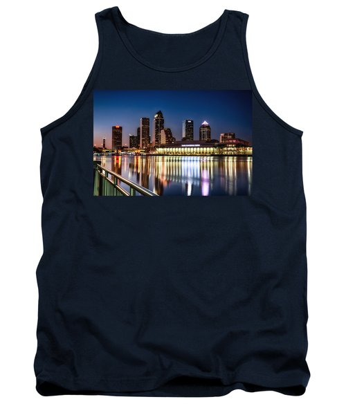 City Of Tampa Skyline  Tank Top by Michael White