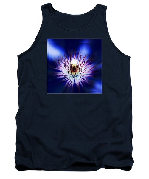 Tank Top featuring the photograph Clemantis Center by Nick Kloepping