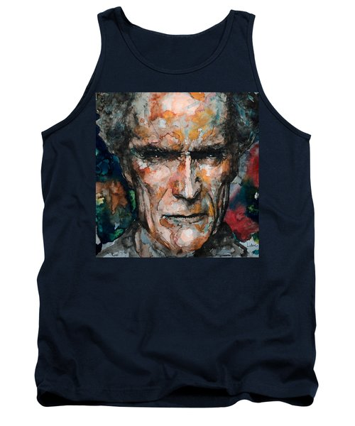 Clint Eastwood Tank Top by Laur Iduc