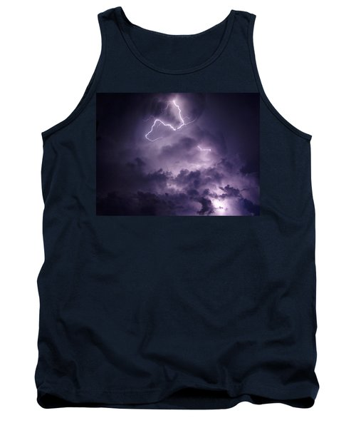 Tank Top featuring the photograph Cloud Lightning by James Peterson