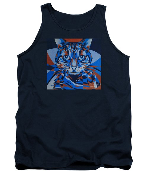 Tank Top featuring the painting Color Cat IIi by Pamela Clements