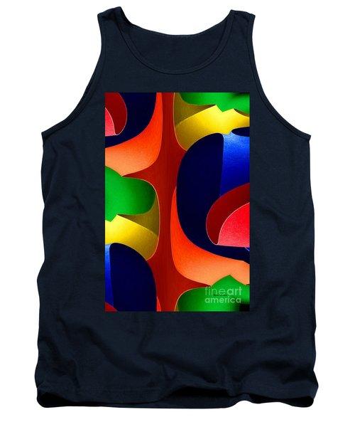 Tank Top featuring the digital art Color Maze by Rafael Salazar