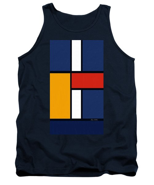 Color Squares - Mondrian Inspired Tank Top by Enzie Shahmiri