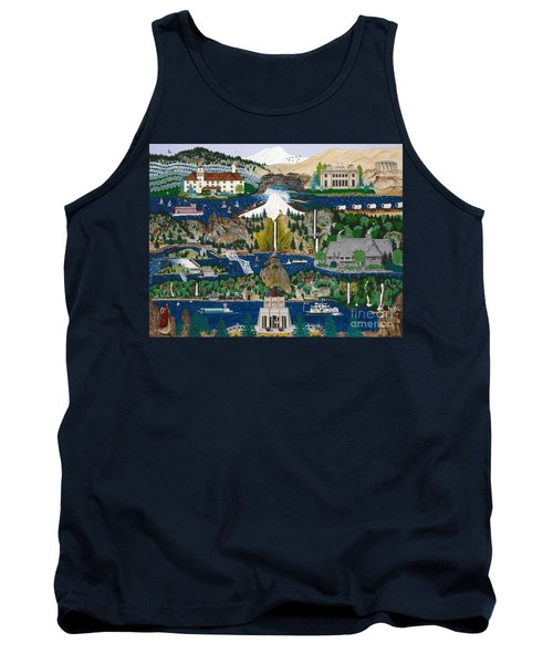 Tank Top featuring the painting Columbia River Gorge by Jennifer Lake