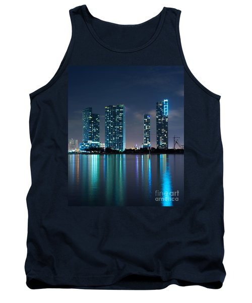 Tank Top featuring the photograph Condominium Buildings In Miami by Carsten Reisinger