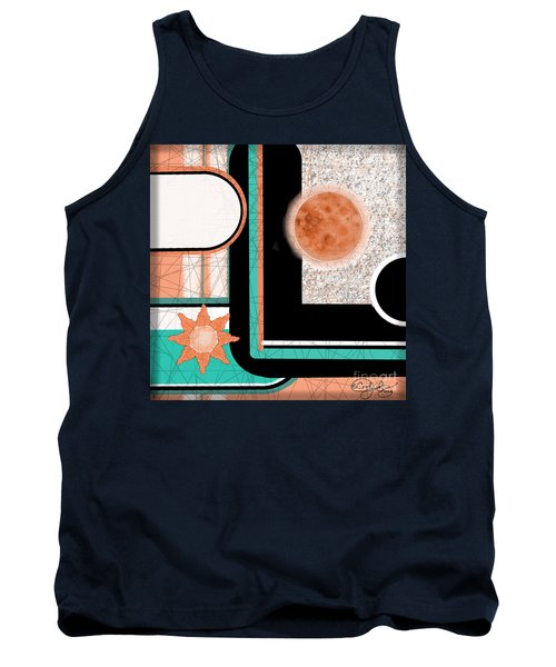 Tank Top featuring the painting Coral Moon by Carol Jacobs