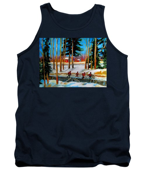 Country Hockey Rink Tank Top