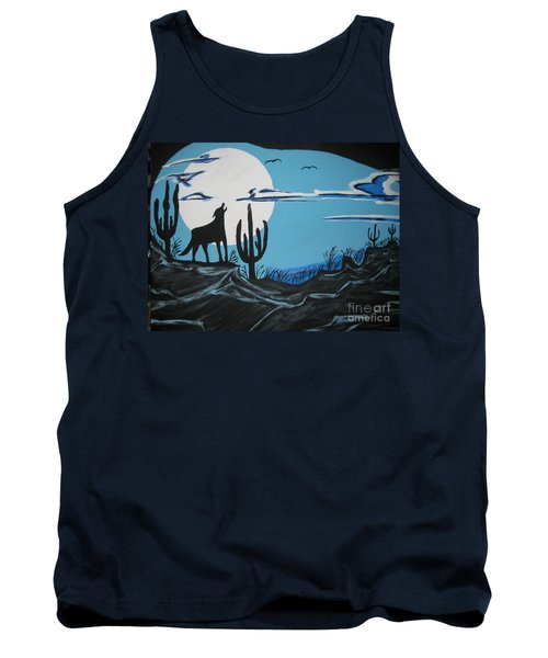 Tank Top featuring the painting Coyote by Jeffrey Koss