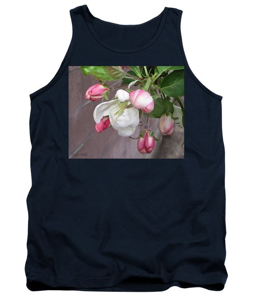 Tank Top featuring the digital art Crabapple Blossoms Miniature by Donald S Hall